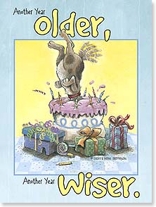 Birthday Card - Another Year Older | Gary Patterson | 13315 | Leanin' Tree