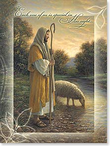 Birthday Card - May you feel him watching over you. w/ Psalm 23 | Jon McNaughton | 13324 | Leanin' Tree
