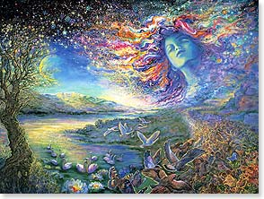Blank Card with Quote / Saying - Starscape | Josephine Wall | 13335 | Leanin' Tree