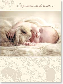 Baby Congratulations Card - So precious and sweet...for your new snugglebunny! | Rachael McKenna | 13442 | Leanin' Tree