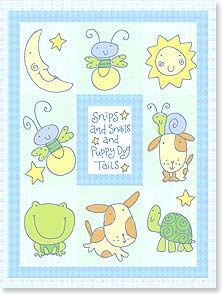 Baby Congratulations Card - Snips and snails and puppy dog tails! | Tim Coffey | 13444 | Leanin' Tree