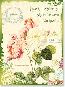 Birthday Card - The Shortest Distance Between Hearts | Terri Conrad | 13460 | Leanin' Tree