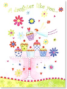 Birthday Card - Daughter - The icing on the cupcake of life! | Kym Bowles | 13476 | Leanin' Tree
