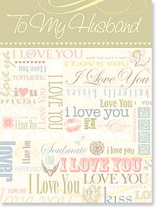 Anniversary Card - i (heart) u | Kim Designs, LLC | 13485 | Leanin' Tree