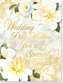 Wedding Card - Wedding Day Wishes - 13496 | Leanin' Tree