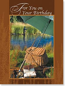 Birthday Card - Wishing you a perfectly peaceful, altogether wonderful day. | Richard Garland | 13500 | Leanin' Tree