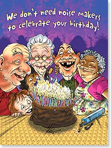 Birthday Card - We don't need noise makers - we'll rely on the smoke alarm! | Ben Crane | 13508 | Leanin' Tree