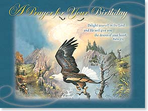 Birthday Card - Soar to new heights! w/ Psalm 37:4 | Ted Blaylock | 13512 | Leanin' Tree