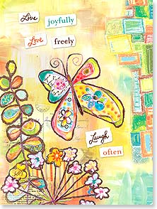 Birthday Card - Live Joyfully | Lori Siebert | 13513 | Leanin' Tree