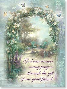 Friendship Card - God's wonderful gift of you! w/ Psalm 30:12 | Lena Liu | 13521 | Leanin' Tree