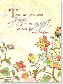 Encouragement & Support Card - Be assured of my constant prayers w/ I Corinthians 16:24 | Connie Haley | 13527 | Leanin' Tree