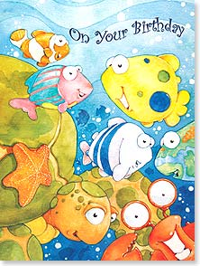 Birthday Card - More wishes than all the fishes in the sea! | Steve Vanderbosch | 13708 | Leanin' Tree