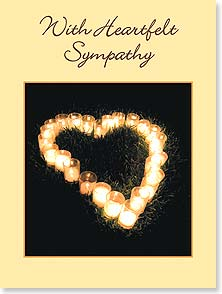 Sympathy Card - Celebrating the light and spirit of a very special person. | Madalene's Hearts™ | 13723 | Leanin' Tree