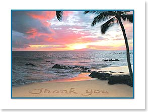 Thank You Card - Staff Pick - Sunset Sentiments | Susan Y. Davis | 13744 | Leanin' Tree