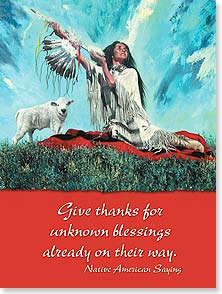 Birthday Card - White Buffalo Blessing - 13746 | Leanin' Tree