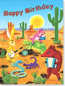 Birthday Card - Desert Fun Birthday | D. Loren Guttormson | 13753 | Leanin' Tree