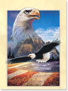 Friendship Card - Enduring Friendship &amp; Freedom | Ray Simon | 13773 | Leanin' Tree