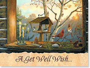 Get Well Card - Friendly Visitors | Terry Doughty | 13779 | Leanin' Tree