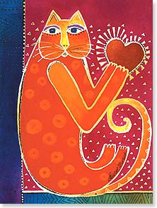 Loving Thoughts Card - Staff Pick - Hug From My Heart | Laurel Burch&amp;reg; | 13801 | Leanin' Tree