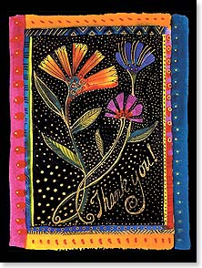 Thank You & Appreciation Card - Flower Trio | Laurel Burch® | 13804 | Leanin' Tree