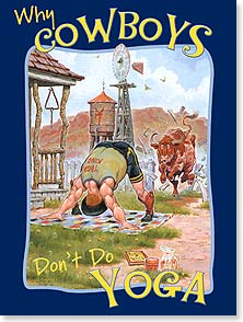 Birthday Card - Staff Pick - Cowboys Don't Do Yoga - 13822 | Leanin' Tree