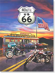 Birthday Card - Staff Pick - Route US 66 Diner | Greg Giordano | 13824 | Leanin' Tree
