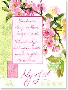 Love & Romance Card - True Love in Bloom | Gail Flores | 13845 | Leanin' Tree
