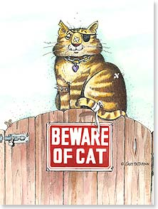 Birthday Card - Staff Pick - Beware of Cat | Gary Patterson | 13850 | Leanin' Tree