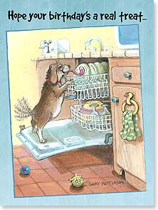 Birthday Card - Good To The Last Crumb | Gary Patterson | 13852 | Leanin' Tree