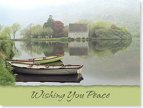 Sympathy Card - Staff Pick - Wishing You Peace | John and Debora Scanlan | 13870 | Leanin' Tree