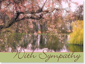 Sympathy Card - Staff Pick - With Sympathy | Shirley Cross | 13871 | Leanin' Tree