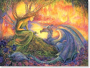 Thank You & Appreciation Card - The Dryad & The Dragon | Josephine Wall | 13881 | Leanin' Tree