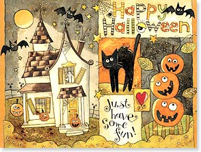 Halloween Card - Wishing you frightful fun! | Karen Hillard Good | 13927 | Leanin' Tree