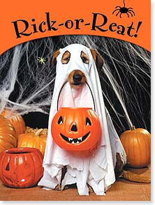 Halloween Card - Rick-or-Reat! Happy Halloween | Kimball Stock | 13928 | Leanin' Tree