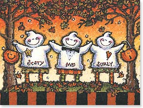 Halloween Card - Scary Mo Surly: Whoop it up! | Michael Stoebner | 13929 | Leanin' Tree