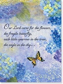 Encouragement & Support Card - I entrust you to God's care; Acts 20:32 | Sue Zipkin | 13974 | Leanin' Tree