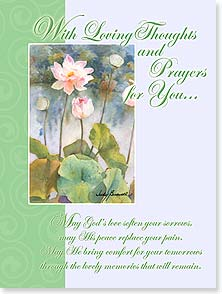 Praying For You Card - May God Bless &amp; Keep You; Colossians 1:2 | Judy Buswell | 13980 | Leanin' Tree