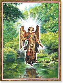 Anytime Wish for You Card - Be blessed with the light of angels | Paul Heussenstamm | 13994 | Leanin' Tree