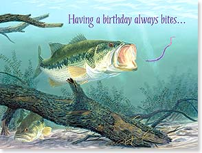 Birthday Card - If only the fish were so reliable! Happy Birthday | Randy McGovern | 15383 | Leanin' Tree