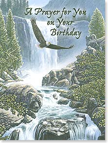 Birthday Card - May the Lord lift you ever higher w/ Ephesians 1:18-19 | John Van Straalen | 15518 | Leanin' Tree