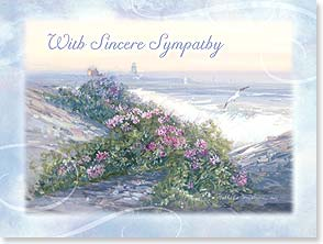Sympathy Card - My thoughts are with you today and in the days to come. | Nathalie Johnson Nordstrand | 15584 | Leanin' Tree