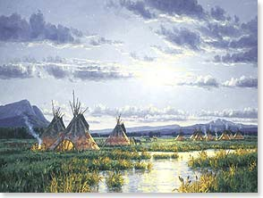 Birthday Card - Native American | Moonlit Encampment | Randy Van Beek | 15586 | Leanin' Tree