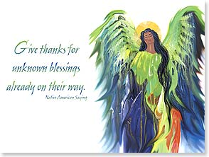 Birthday Card - Native American Birthday Blessings | Traci Rabbit | 15588 | Leanin' Tree