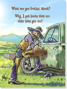 Birthday Card - Funny | Really Old Boots - 15601 | Leanin' Tree