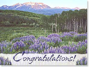 Congratulations Card - Purple Splendor | John Fielder | 15610 | Leanin' Tree