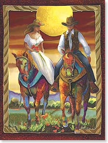 Wedding Card - Best wishes for many happy trails. | Nancy Dunlop Cawdrey | 15614 | Leanin' Tree