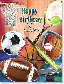 Birthday Card - Son - Sports | From Your Biggest Fans | Connie Haley | 15633 | Leanin' Tree