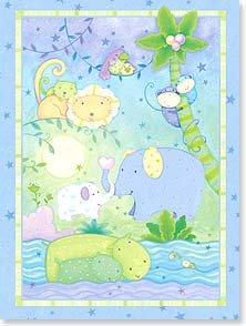 Baby Congratulations Card - Congratulations on your new little wild thing! | Viv Eisner | 15647 | Leanin' Tree