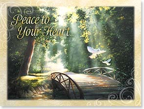 Sympathy Card - Peace to Your Heart | Donna Brooks | 15654 | Leanin' Tree