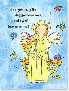 Birthday Card - Staff Pick - Scripture | Angels Sang The Day You Were Born | Bee Sturgis | 15692 | Leanin' Tree